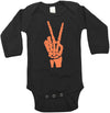 Skeleton Peace Sign Baby Halloween Bodysuit