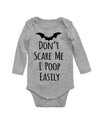Dont Scare Me I Poop Easily Bodysuit