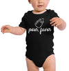 Pour Favor short sleeve Baby Bodysuit