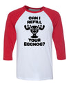Can I Refill Your Eggnog Moose Cup Christmas Baseball Shirt