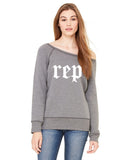 REP Womens Wide Neck Sweatshirt