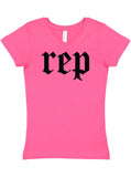Girl's Rep Tour Youth V-Neck Tee