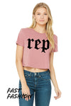 Rep Crop Top T-Shirt