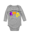 Resting Witch Face Hocus Pocus Long Sleeve Baby Bodysuit