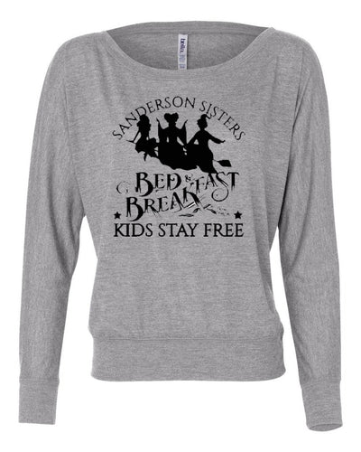 Sanderson Sisters Bed And Breakfast Womens Long Sleeve Shirt