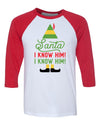 Santa I know him! Elf Movie Christmas Shirt For Family