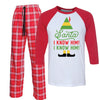 Santa I know Him Elf Movie Pajamas for Family
