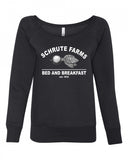 Schrute Farms Bed and Breakfast Wide Neck Sweatshirt