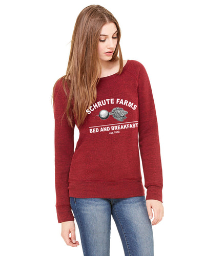 Schrute Farms Bed And Breakfast Women's Wideneck Sweatshirt
