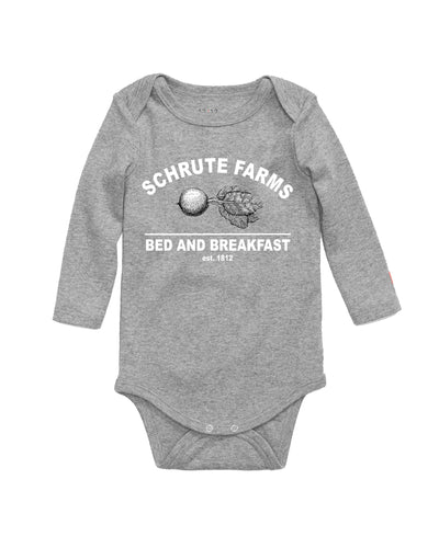 Schrute Farms Bed And BreakFast The Office Baby Bodysuit