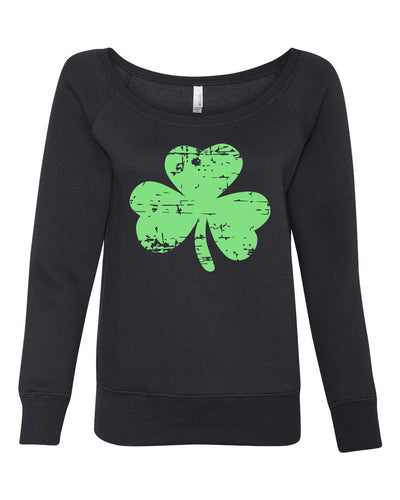 Clover Women's Wideneck Sweatshirt