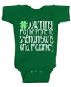 May be Prone to Shenanigans and Malarky St Patricks day Baby Bodysuit