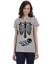 Halloween It's a Boy Gender Reveal Skeleton T-shirt