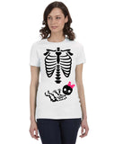 It's A Girl Halloween Gender Reveal Skeleton T-Shirt