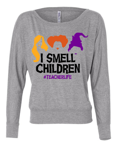 Hocus Pocus I smell Children Teacher Halloween Long Sleeve Shirt