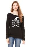 Something Wicked This Way Comes Halloween Witch Sweatshirt