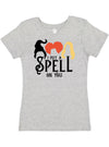 I Put a Spell On You Hocus Pocus Girls V Neck Shirt
