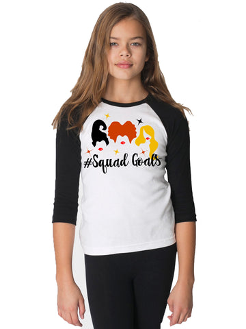 Hocus Pocus Sanderson Sisters Squad Goals Girls and Toddler shirt