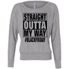 Black Friday Straight Outta My Way Long Sleeve Womens Shirt