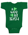 A Wee Bit Irish St Patrick's Day Baby Bodysuit