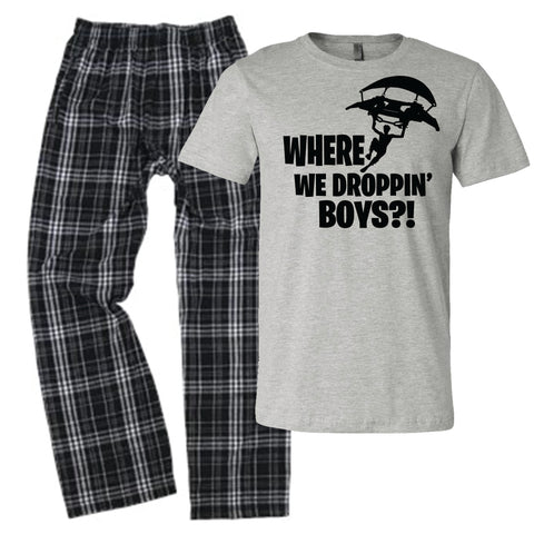 Where are We Droppin Boys Pajamas for Kids Boys