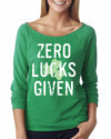Zero Lucks Given Saint Patricks Day Shirt for Women