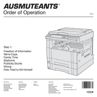 <b>AUSMUTEANTS <br>Order of Operation LP</b>