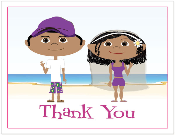 Custom Cartoon Portrait Thank Your Note Cards