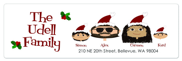 Family Christmas Address Labels