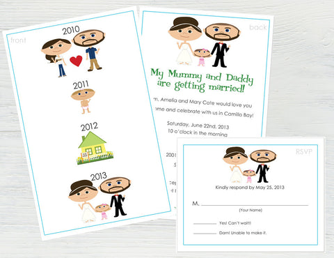 Wedding Story Invitation Set