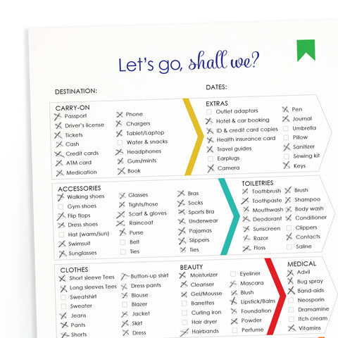FREE Printable Travel Packing List