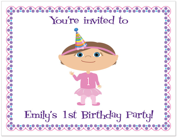 Deluxe Birthday Party Personalized Stationery Set