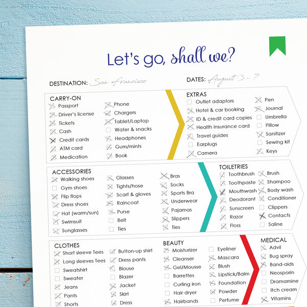 Printable Travel Packing List