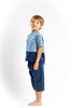 Navy bleu cotton pants with bleu pockets - Poisson Pompon,Bottom - kids clothing