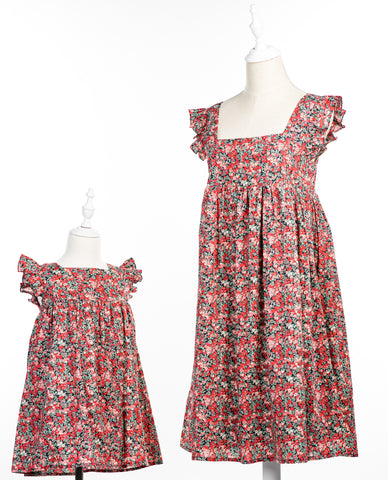 Red flower Liberty of London Jess dress
