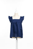 Matching Alix Tops, Navy Bleu 100% Cotton - Poisson Pompon,Top - kids clothing