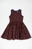Red flower Liberty of London Jess dress - Poisson Pompon,Dress - kids clothing