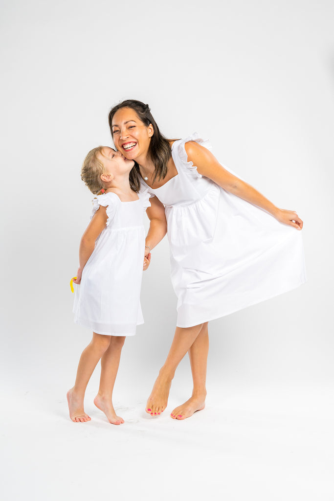 Poisson Pompons bestselling white Alix dress - Poisson Pompon,Dress - kids clothing