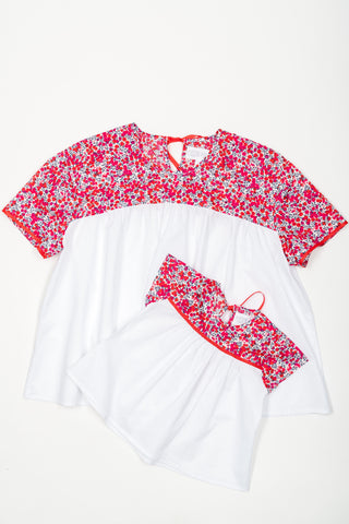 Matching Tops, Liberty queu for the zoo pink cotton voile