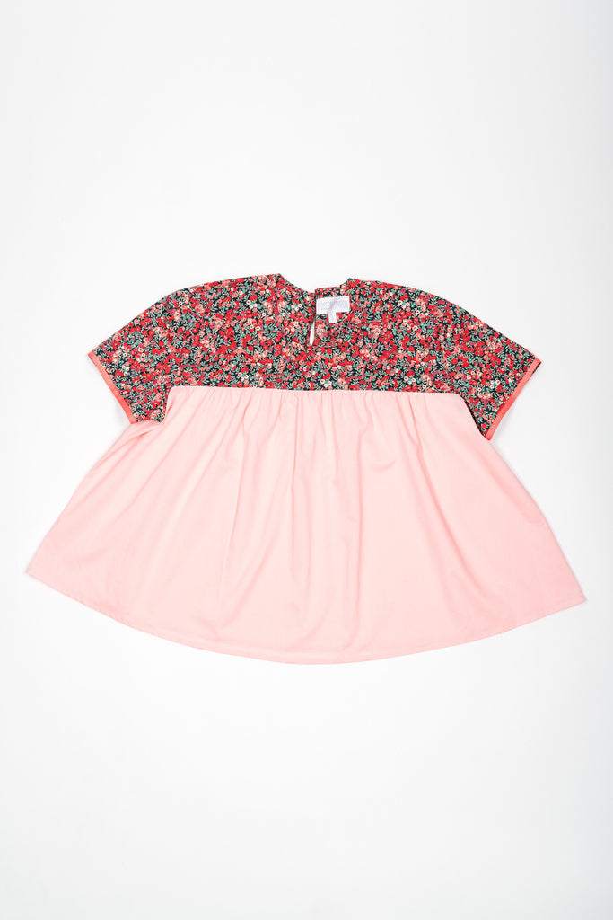 Matching Tops, Liberty Wiltshire pink flower cotton voile - Poisson Pompon,Top - kids clothing