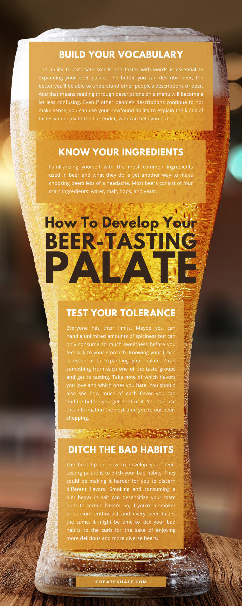 How To Develop Your Beer-Tasting Palate