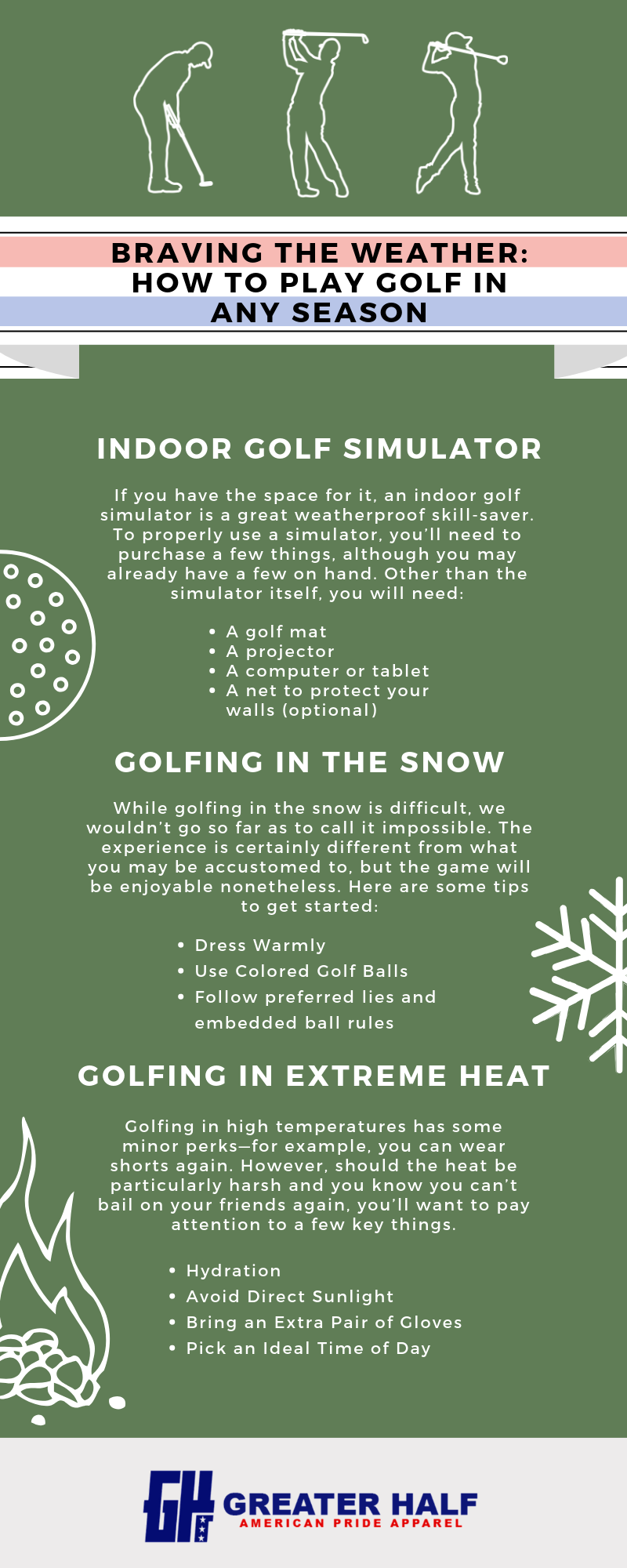 play golf in any season