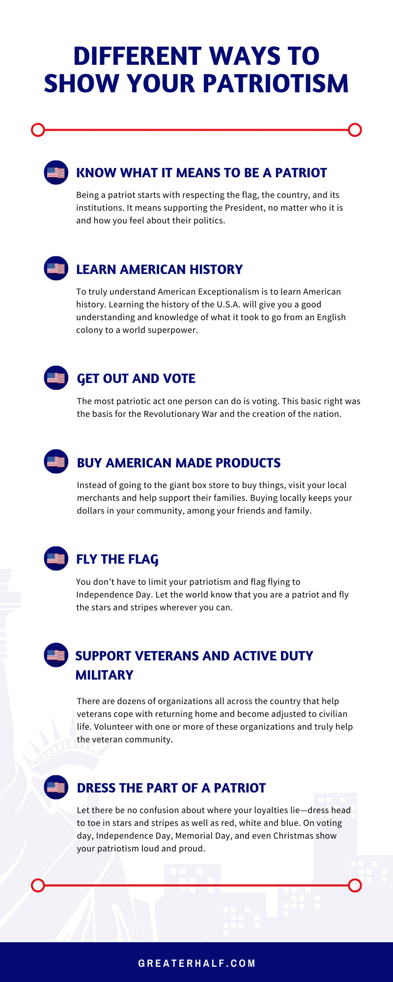 Different Ways to Show Your Patriotism