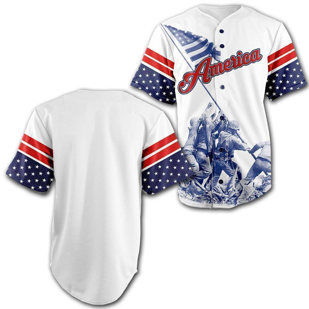 Custom Team America Baseball Jersey - Greater Half