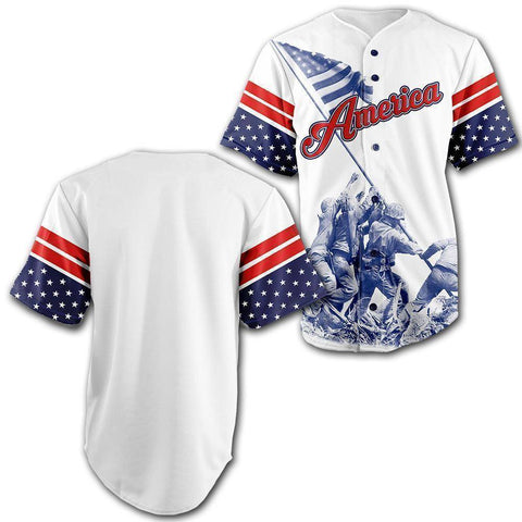 Image of Custom Team America Baseball Jersey - Greater Half