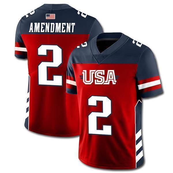 USA 2nd Amendment Football Jersey-Greater Half