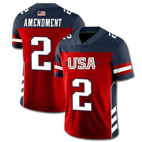 Image of USA 2nd Amendment Football Jersey-Greater Half