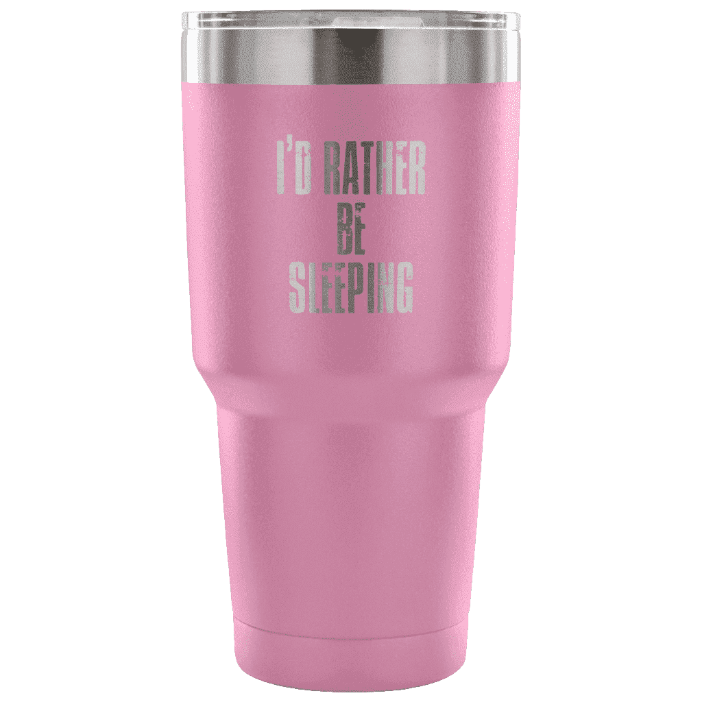 I'd Rather Be Sleeping Tumbler Tumblers teelaunch Light Purple