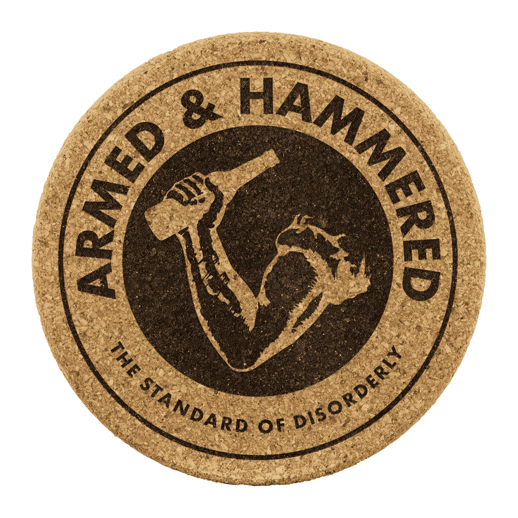 Armed and Hammered Coasters - Greater Half