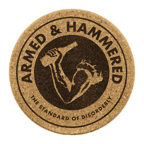 Image of Armed and Hammered Coasters - Greater Half